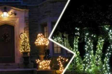 Eco Revolution - Pack of Diamond LED Solar Fairy Lights with 200 Bulbs - Save 68%