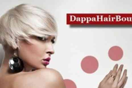 Dappa Hair Boutique - Haircut and Bumble & Bumble, Philip Kingsley, Conditioning Treatment  - Save 62%