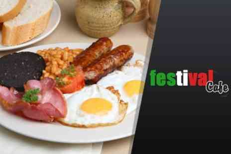 Festival Cafe - Breakfast Full English With Hot Drink For Two - Save 56%