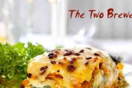 The Two Brewers - Three Courses of Traditional Pub Fare With Coffee For Four - Save 61%