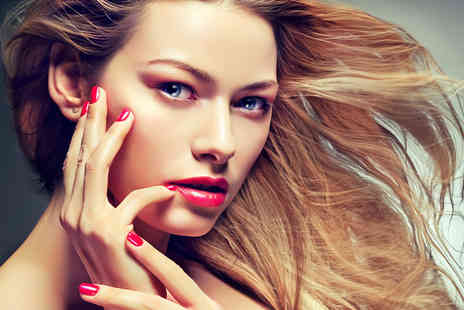 ROXY Beauty - Wash, cut & blow dry with choice of deluxe mani or express pedi - Save 66%