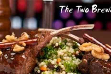 The Two Brewers - Three Courses of Traditional Pub Fare With Coffee For Two - Save 60%