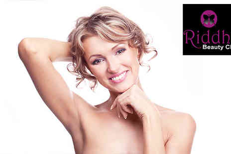 Riddhis Beauty Clinic - An Underarm wax and either a Hollywood or Brazilian - Save 78%