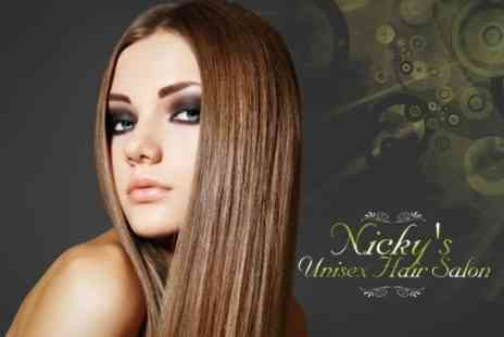 Nickys Unisex Hair Salon - Cut and Wash With Straighten - Save 65%