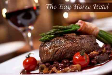 The Bay Horse Hotel - 16oz Steak and Wine For Two - Save 49%