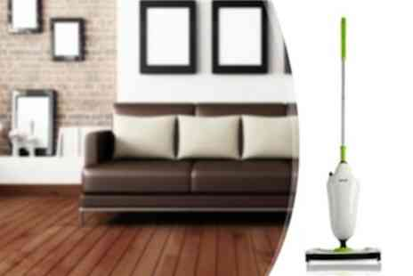 Ooplo - Make cleaning a breeze with the Pifco 1500W Steam Mop - Save 64%