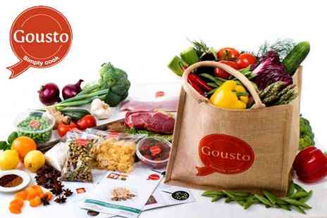Gousto - Bag of 3 meals for two people - Save 50%