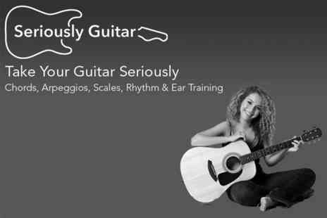 Seriously Guitar - Guitar Tuition Software 100 Hours of lessons from beginner to advanced. - Save 50%