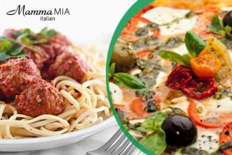 Mamma Mia - Two Course Meal With Wine For Two - Save 52%