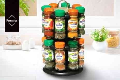 Mahahome.com - Set of Schwartz Herbs and Spices With Two Tier Rack - Save 53%