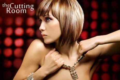 The Cutting Room - Wash and Blow Dry or Restyle Cut and Finish Plus Half Head Highlights - Save 53%