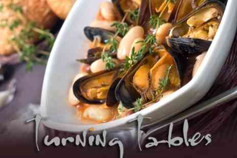 Turning Tables - Two Courses of International Cuisine For Two - Save 52%