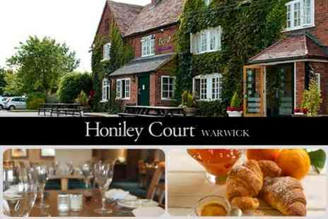 Honiley Court Hotel - In Warwickshire One Night 4star Stay For Two With Breakfast - Save 34%