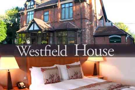 Westfield House Hotel - In Blaby One Night Stay For Two With Breakfast and Access to Leisure Facilities - Save 62%