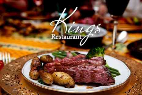 Kings Restaurant - Two Course Sunday Roast With Wine For Two - Save 53%