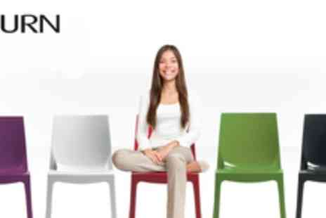 Infurn - 2 contemporary designer dining chairs in a choice of colours - Save 59%