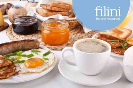 Filini Restaurant - All You Can Eat Breakfast For One - Save 52%