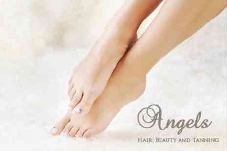 Angels Hair - Manicure or Pedicure - Save 64%