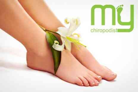 My Chiropodist - Foot Care Package Massage, Buff and Corn Treatment - Save 57%