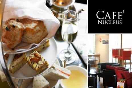 Cafe Nucleus - Champagne and Chocolate Afternoon Tea For Two - Save 50%