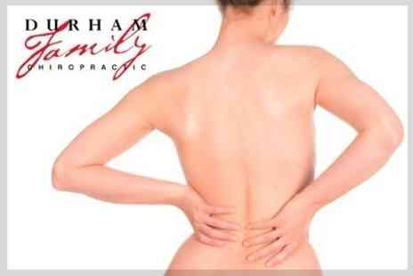 Durham Family Chiropractic - Chiropractic Consultation With Three Treatments - Save 79%