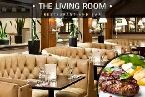 The Living Room - Steak Meal With Dessert And Wine For Two - Save 54%