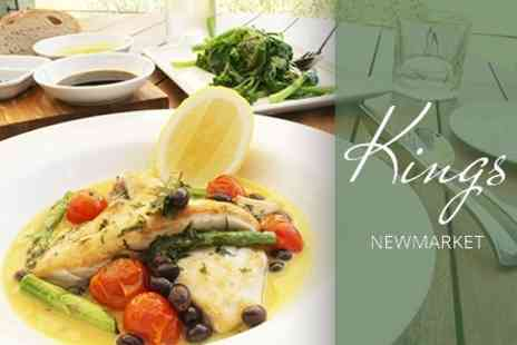 Kings Restaurant - Two Course Dinner For Two With Nibbles and Glass of Prosecco Each - Save 63%