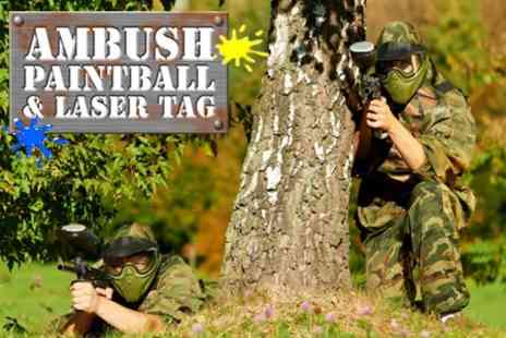Ambush Paintball - Play For Two With 100 Balls Each - Save 53%
