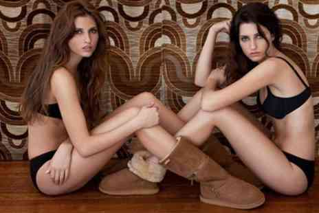 Clever Pretty Shoes - Australian Sheepskin Zippyboots in Black, Chocolate or Tan - Save 67%