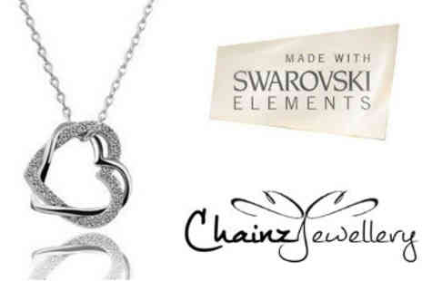 ChainzJewellery.com - Entwined Hearts Swarovski Elements Necklace - Save 84%