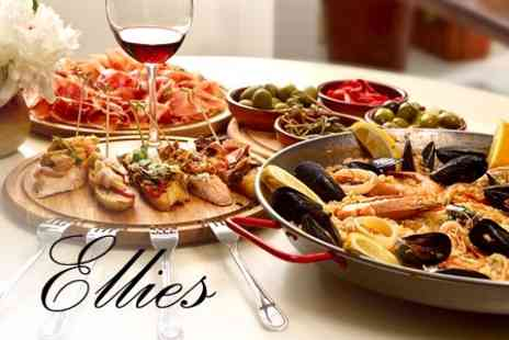 Ellies Bistro - Six Tapas and Wine Dishes and One Bottle For Two - Save 62%