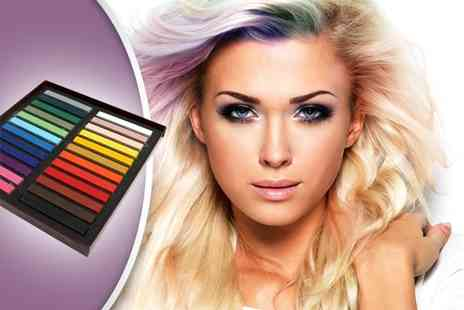 Bazaared - 24 Pack of Coloured Hair Chalk - Save 75%