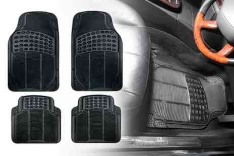 Simply Things - Set of Four Heavy Duty Rubber Car Mats - Save 52%
