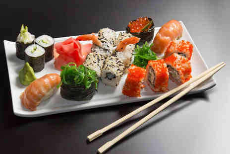 UmeZushi - 24 piece sushi takeaway for 2 inc soft drinks for lunch inc sake - Save 54%