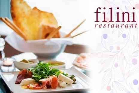 Filini Restaurant - Seven Course Italian Meal For Two With Glass of Prosecco Each - Save 54%