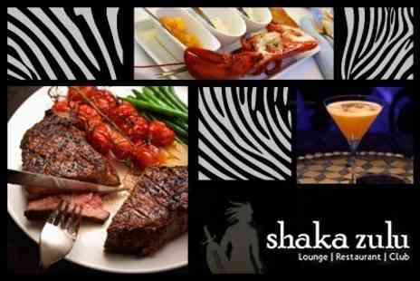 Shaka Zulu - South African Cuisine For Two Plus Cocktail Each - Save 61%