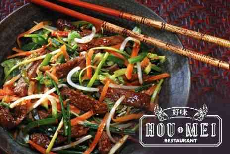 Hou Mei Restaurant - Three Courses of Asian Cuisine For Two - Save 67%
