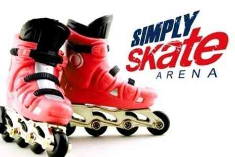 Simply Skate Arena - Inline Roller Skating For Four - Save 50%