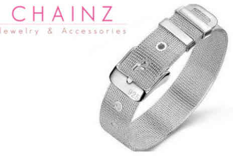 ChainzJewellery.com - Sterling Silver Watchband Bracelet - Save 79%