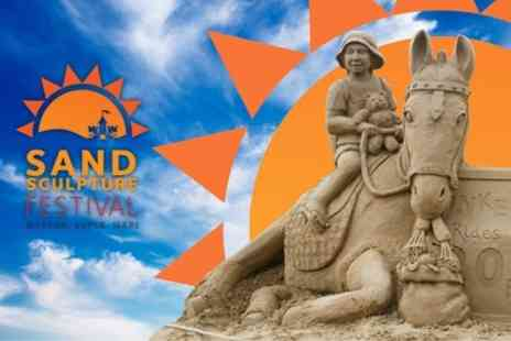 Sand Sculpture Festival 2013 - Entry For Two Adults With Two Hot Drinks - Save 46%