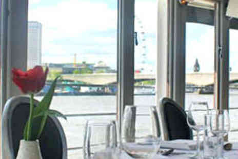 The Yacht London - Luxury Thames Dining Experience for Two - Save 56%
