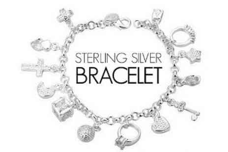 ChainzJewellery.com - Sterling Silver Charm Bracelet with Pendants - Save 83%