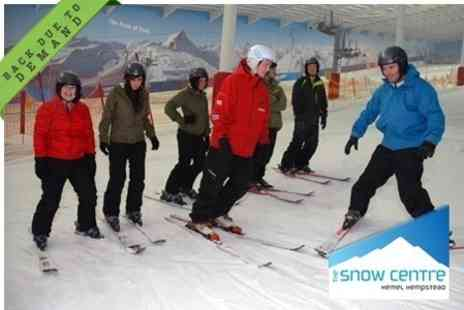 The Snow Centre - Beginners Skiing or Snowboarding Lesson For One - Save 27%