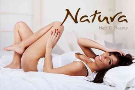 Natura Hair and Beauty - IPL Hair Removal Six Session For Choice of Areas Such as Half Legs, Bikini Line and Underarms - Save 94%