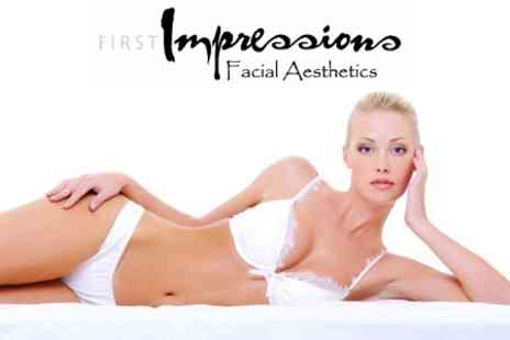First Impressions Facial Aesthetics - Laser Hair Removal Six Sessions For One Medium or Two Small Areas - Save 87%