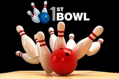 1st Bowl - One Bowling Game For Up to Six People - Save 74%