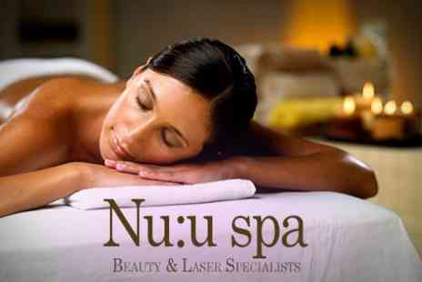 NU:U Clinic - 75 Minute Candelit Massages - Save 58%