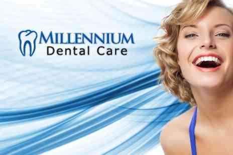 Millenium Dental Care - Single Dental Implant With Abutment and Crown - Save 43%