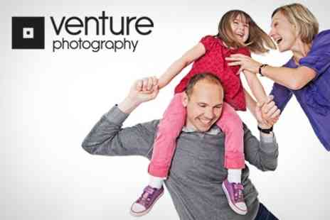 Venture Photography - Group Photoshoot With Framed Print - Save 88%