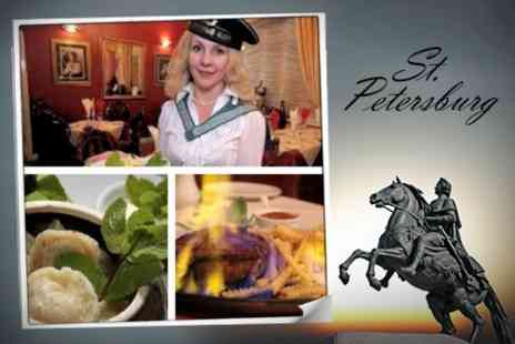 St Petersburg Russian Restaurant - Three Course Russian Meal For Two - Save 60%